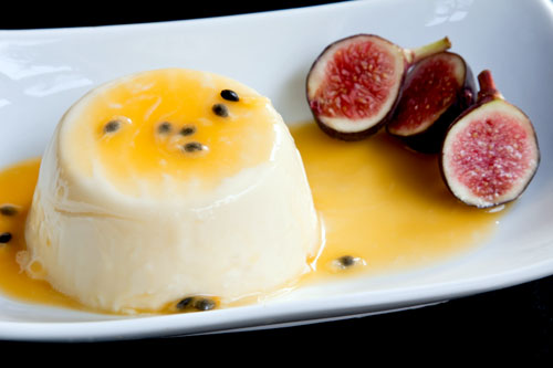 Panna cotta aux fruits de la passion