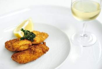 Croquettes de Comté et persil frit