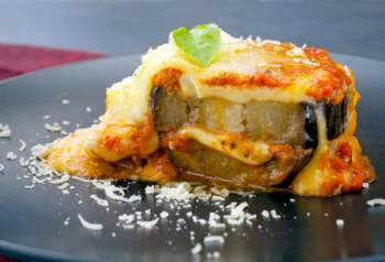 Gratin d'aubergines au parmesan (parmigiana)